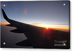 Airplane Wing - 01 Acrylic Print by Gregory Dyer