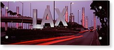 Airport At Dusk, Los Angeles Acrylic Print