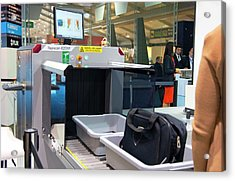 Airport Baggage X-ray Scanner. Acrylic Print