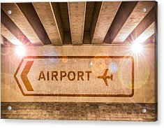 Airport Directions Acrylic Print by Semmick Photo