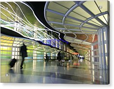 Acrylic Print featuring the photograph Airport Rush by Kate Purdy