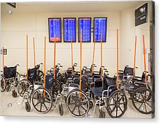 Airport Wheelchairs Acrylic Print by Jim West