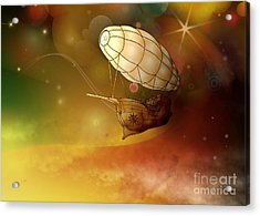 Airship Ethereal Journey Acrylic Print