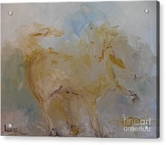 Acrylic Print featuring the painting Airwalking by Laurie L