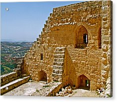 Ajlun Castle In Jordan Acrylic Print by Ruth Hager