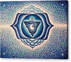 Ajna Third Eye Chakra  Acrylic Print by Andrew Zeutzius