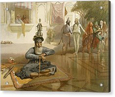 Akalis At The Holy Tank, Umritsar Acrylic Print by William 'Crimea' Simpson