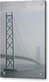Akashi Kaikyo Suspension Bridge Of Japan Acrylic Print by Daniel Hagerman