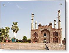 Akbar's Tomb In  India Acrylic Print