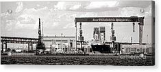 Aker Philadelphia Shipyard Acrylic Print by Olivier Le Queinec