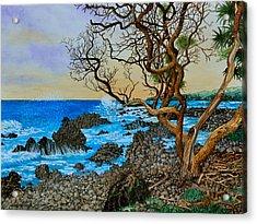 Akini Kinau Shoreline Maui Acrylic Print