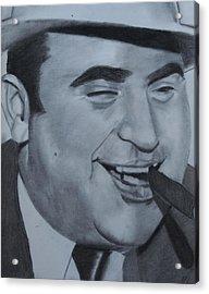Al Capone Acrylic Print by Aaron Balderas