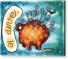 Al Dente Acrylic Print by Kelly Jade King