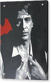 Al Pacino 2013 Acrylic Print by Luis Ludzska
