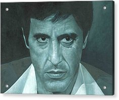Acrylic Print featuring the painting Al Pacino 'scarface'  by David Dunne