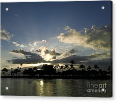 Acrylic Print featuring the photograph Ala Wai Skies by Laura  Wong-Rose