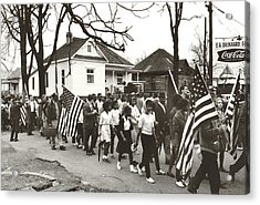 Alabama Civil Rights March Acrylic Print by Peter Pettus