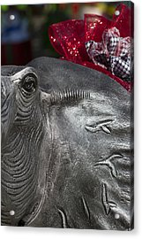 Alabama Crimson Tide Football Mascot Acrylic Print by Kathy Clark