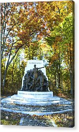 Alabama Monument At Gettysburg Acrylic Print by Paul W Faust -  Impressions of Light