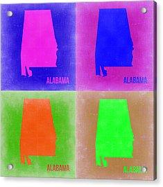 Alabama Pop Art Map 2 Acrylic Print