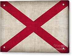 Alabama State Flag Acrylic Print by Pixel Chimp