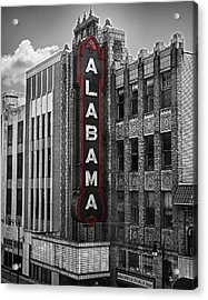 Alabama Theater Acrylic Print by Fred Baird