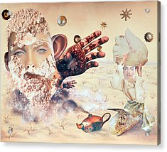 Aladdin And The Magic Lamp Acrylic Print by Nekoda  Singer