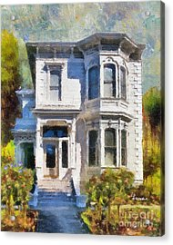 Alameda 1880 - Queen Anne  Acrylic Print by Linda Weinstock