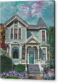 Alameda 1897 - Queen Anne Acrylic Print by Linda Weinstock