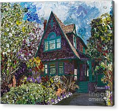 Alameda 1907 Traditional Pitched Gable - Colonial Revival Acrylic Print by Linda Weinstock