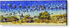 Alameda Famous Burbank Palm Trees Acrylic Print by Linda Weinstock