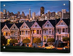 Alamo Square - Painted Ladies Acrylic Print