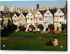 Acrylic Print featuring the photograph Alamo Square San Francisco by James Kirkikis