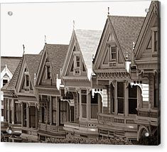 Alamo Square - Victorian Painted Ladies 2009 Acrylic Print by Connie Fox