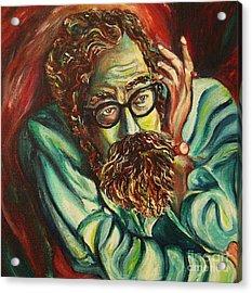Alan Ginsberg Poet Philosopher Acrylic Print by Carole Spandau