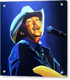 Alan Jackson Painting Acrylic Print by Paul Meijering