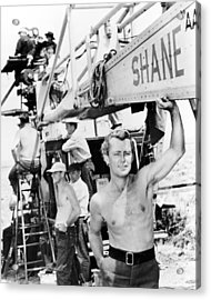 Alan Ladd In Shane  Acrylic Print by Silver Screen