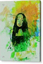 Alanis Morissette Acrylic Print by Naxart Studio