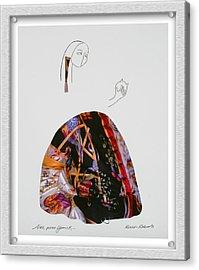 Alas Poor Yorick Acrylic Print by Eve Riser Roberts