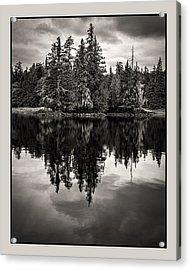 Alaska 2534 Warmbw Acrylic Print by Deidre Elzer-Lento