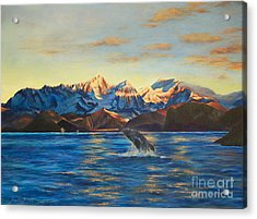 Alaska Dawn Acrylic Print by Jeanette French