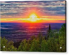 Alaska Land Of The 11 Pm Sun Acrylic Print by Michael Rogers