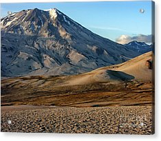 Acrylic Print featuring the photograph Alaska Landscape Scenic Mountains Snow Sky Clouds by Paul Fearn