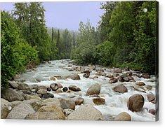 Alaska - Little Susitna River Acrylic Print by Kim Hojnacki