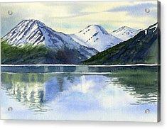 Alaska Mountain Reflections Acrylic Print by Sharon Freeman