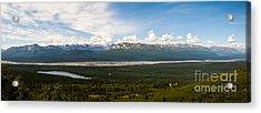Alaska Range Acrylic Print by Chris Heitstuman