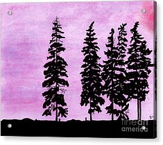 Acrylic Print featuring the drawing Colorful - Alaska - Sunset by D Hackett