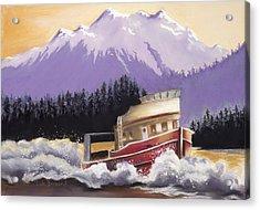 Alaskan Boat Adventure Acrylic Print