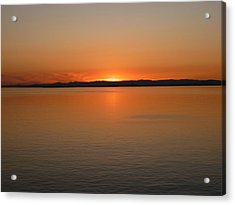 Alaskan Dawn Acrylic Print by David Nichols