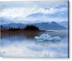 Acrylic Print featuring the digital art Alaskan Mountain Side by Nina Bradica